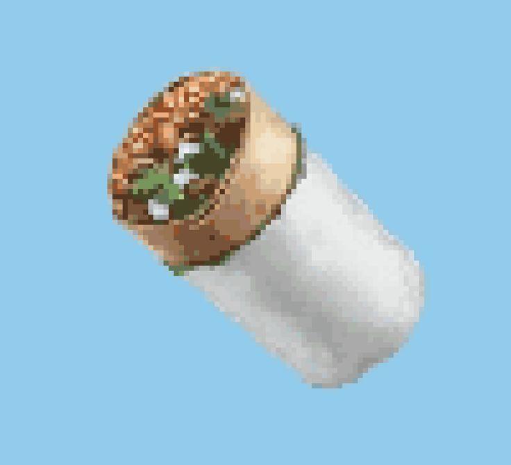 Burrito Emoji Cross Stitich / Crochet Chart from StitchFiddle.com