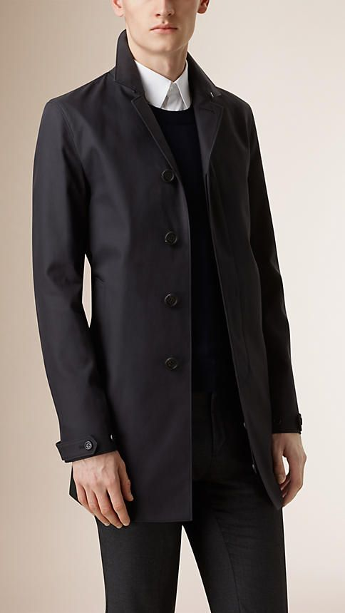 Burberry Ink Cotton Gabardine Caban