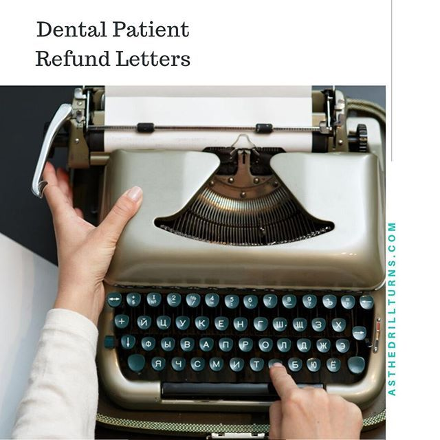 Send Dental Patient Refund Letters With Every Patient Refund Check