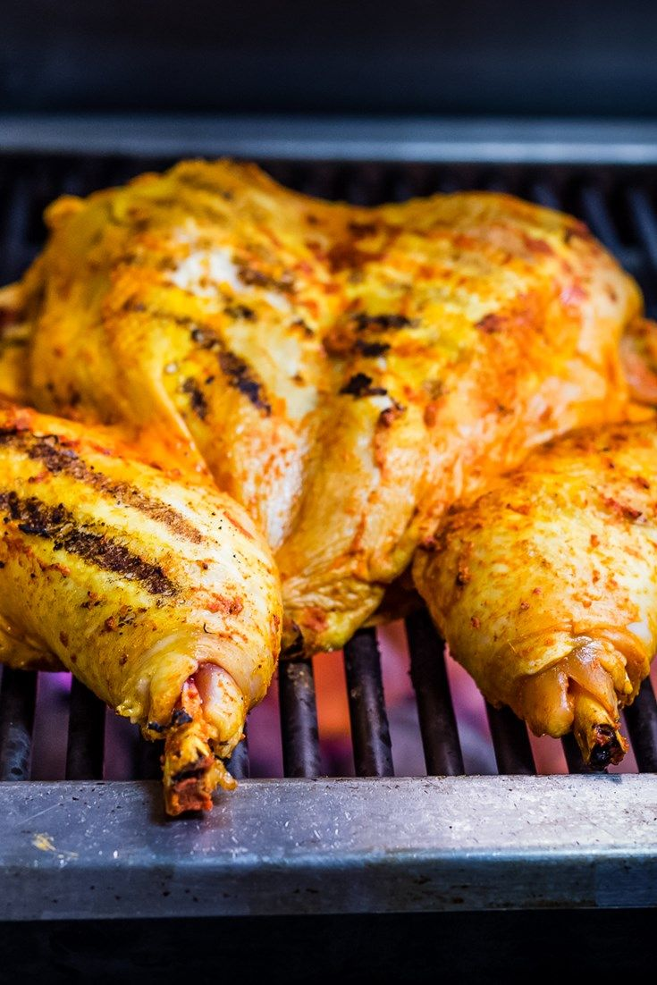 Adam Gray's spatchcock chicken recipe is ideal for a summer barbecue. The chicken is marinated in paprika, ginger and mustard for a slightly fiery finish.