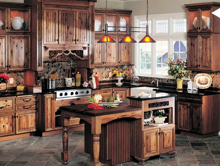 Rustic Kitchen Cabinets Selection Showing Luxury in Kitchen - http://www.designingcity.com/rustic-kitchen-cabinets-selection-showing-luxury-kitchen/