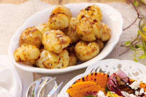 Cumin gives a spicy flavour to these crispy roast potatoes.