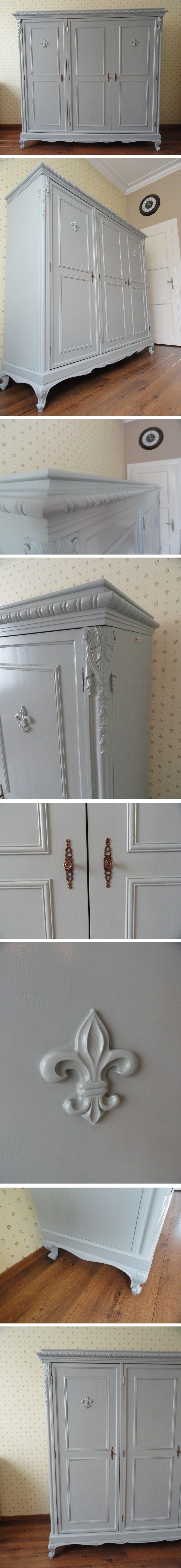 ST117 Vintázs neobarokk ruhásszekrény - Vintage baroque wardrobe - Grey queen