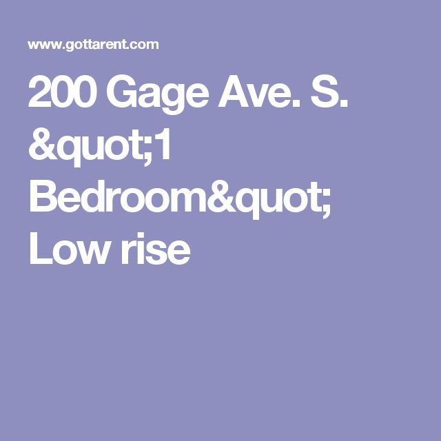 "200 Gage Ave. S. ""1 Bedroom"" Low rise"