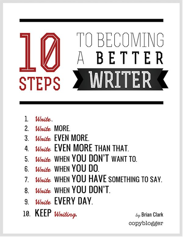 10 Steps to Becoming a Better Writer #writing