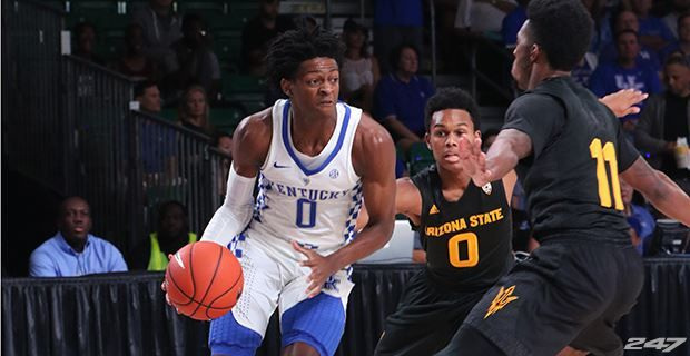 Malik Monk is RIDICULOUS.....Malik Monk capped off a blazing-fast transition opportunity where Kentucky got end-to-end in a hurry.