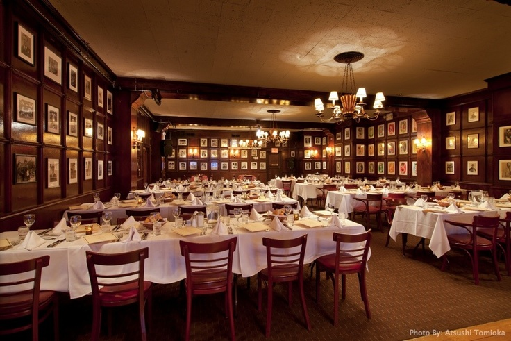 Gallaghers Steak House. I had a wonderful farewell lunch there.