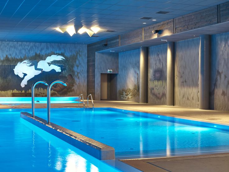 Pool area of 750 sqm in Vestlia Resort, Geilo, Norway