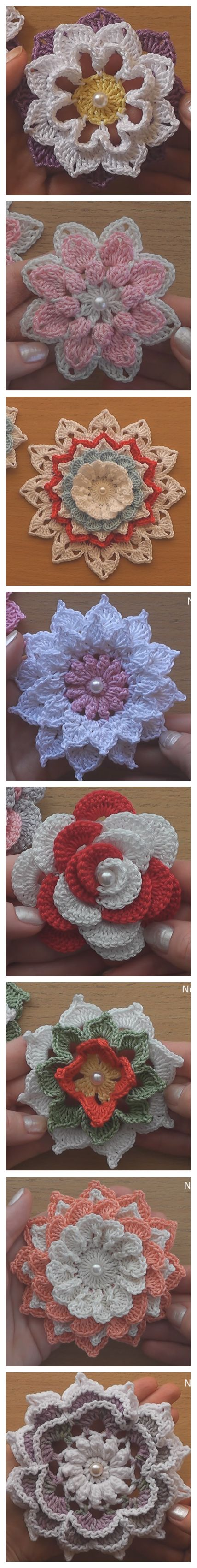 Crochet 8 Gorgeous Flowers