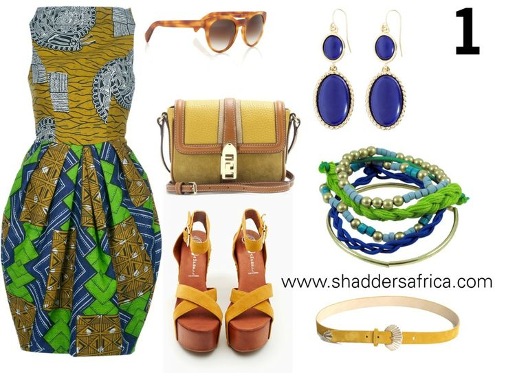 GET THE LOOK //  TAKE A PICK FROM 1 AFRICAN PRINT DRESS WITH 4 FASHIONABLE STYLES