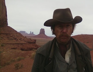 """My good friend Lew Temple on set in Monument Valley, Utah. Lew is shooting Disney """"The Lone Ranger"""": Worth Reading, Monument Valley, Monuments Valley, Shoots Disney, Friends Lew, Books Worth, Lew Temples, Lonely Ranger"""