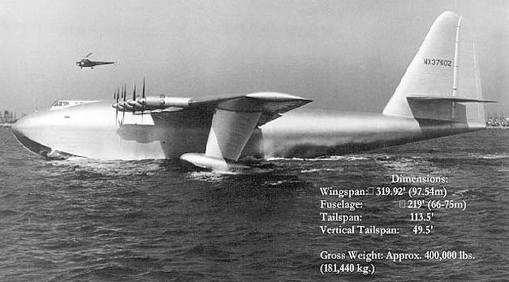 an overview of the hughes flying boat h 4 Howard hughes' giant flying boat is now on display at the evergreen aviation museum during world war 2, a consortium was formed by howard hughes and henry kaiser to .