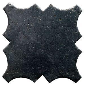 Photo of exclusive black handmade terracotta tile from drylanditaly.com