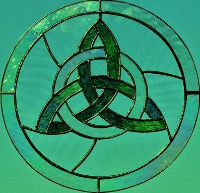 Celtic stained glass...I have something like this I got at the Renfest!