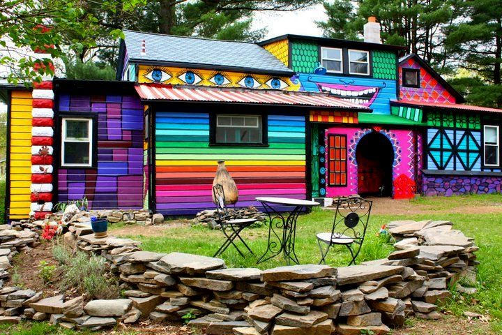 "I've never felt so, ""at home"".... I need a colorful home like this!"