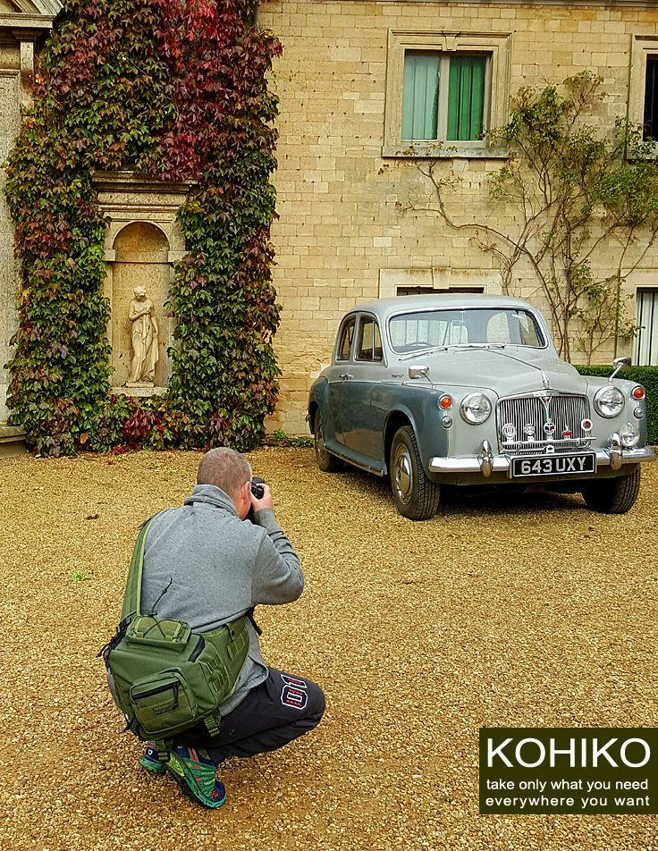 KOHIKO™ backpack at the vintage car photo set.