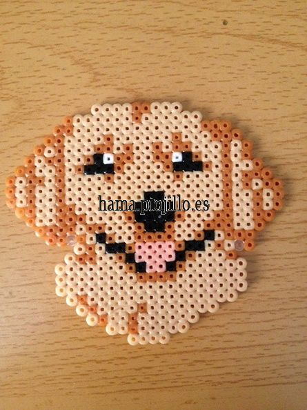 Golden Retriever dog hama beads by Ana y Santi