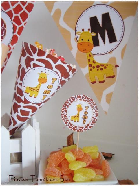 Decoracion fiesta infantil kit imprimible jirafa - Decoracion fiestas de cumpleanos ...