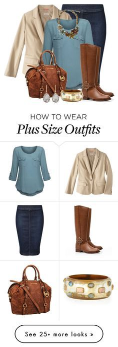 """""""Fall Outfit -- #Plus Size"""" by kimberlyn303 on Polyvore featuring Dex, Merona, Tory Burch, MICHAEL Michael Kors, Ashley Pittman and Larkspur & Hawk"""