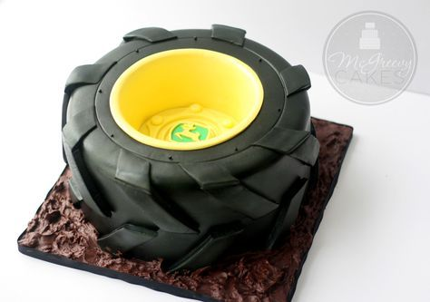 Tractor Tire Cake, with a Free Video Tutorial! - McGreevy Cakes