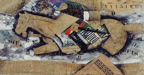 Carrà: Inseguimento (Cavallo e cavaliere), 1915 - Tempera, carboncino e collage…