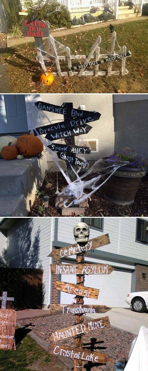 best 17 halloween yard decorations made with recycled pallets in