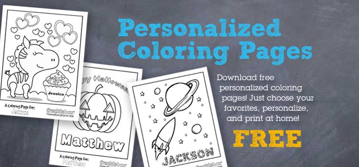 Personalized Coloring Pages fun for kids Pinterest