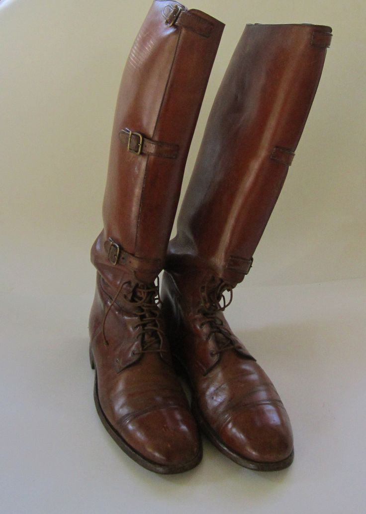 Field boots developed in the mid 19th C. and used throughout the British Empire by the 1870's by cavalry, police, and civilians.