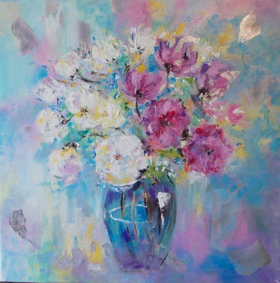 Original floral paintingpeonies by AntigoniArtGallery on Etsy