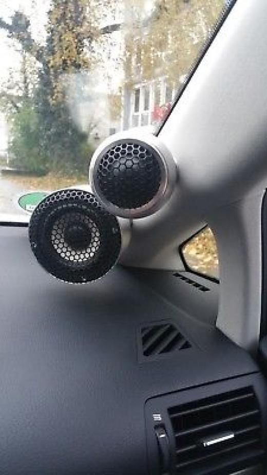 Car Audio System >> Steg Sq Aluminium Pods For Midrange Sq35c And Tweeters Sq32 Component Speaker System Germany ...