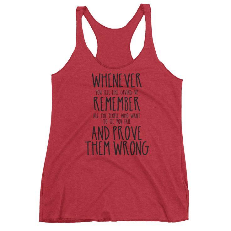 Prove Them Wrong (Black Text) - Women's Racerback Top