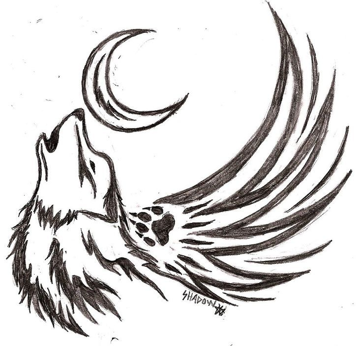 Image Result For Drawing Cool Wolf Tattoos