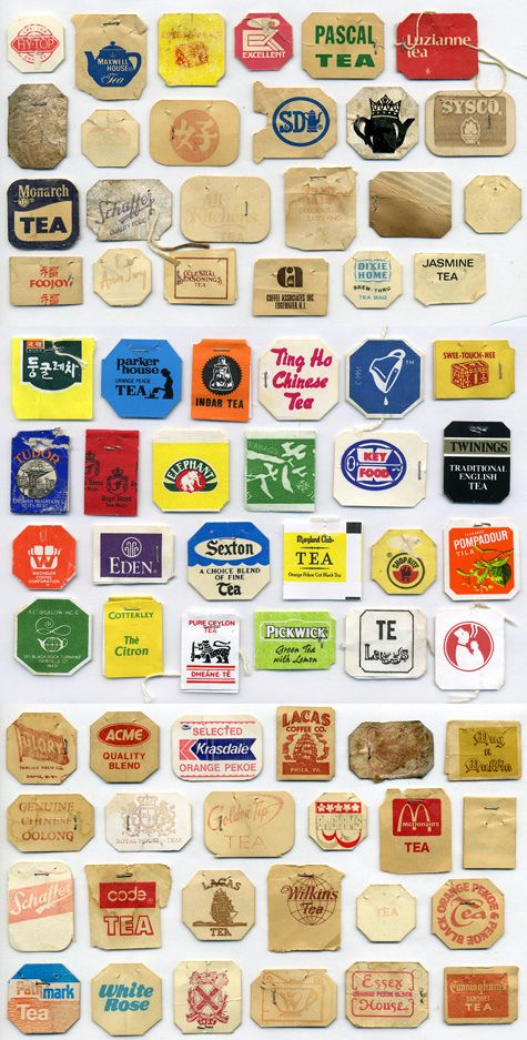I have been collecting tea tags for so long and I plan to collage them onto a trunk.