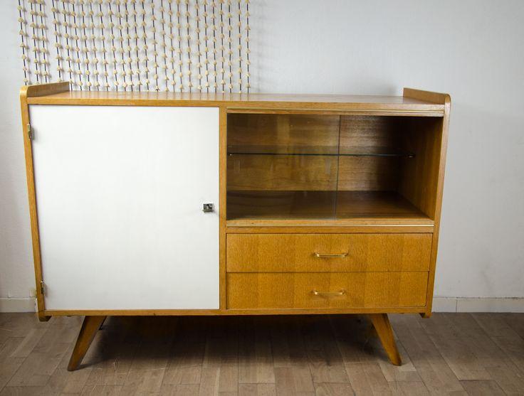 enfilade buffet vintage 1950 pieds compas en ch ne scandinave vintage and buffet. Black Bedroom Furniture Sets. Home Design Ideas