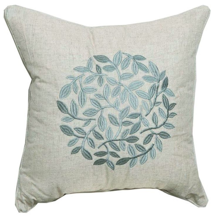 Country Solid Embroidery Linen Decorative Pillow Cover  #cushions #pillows #decor #pattern #country #homedecor #livingroom