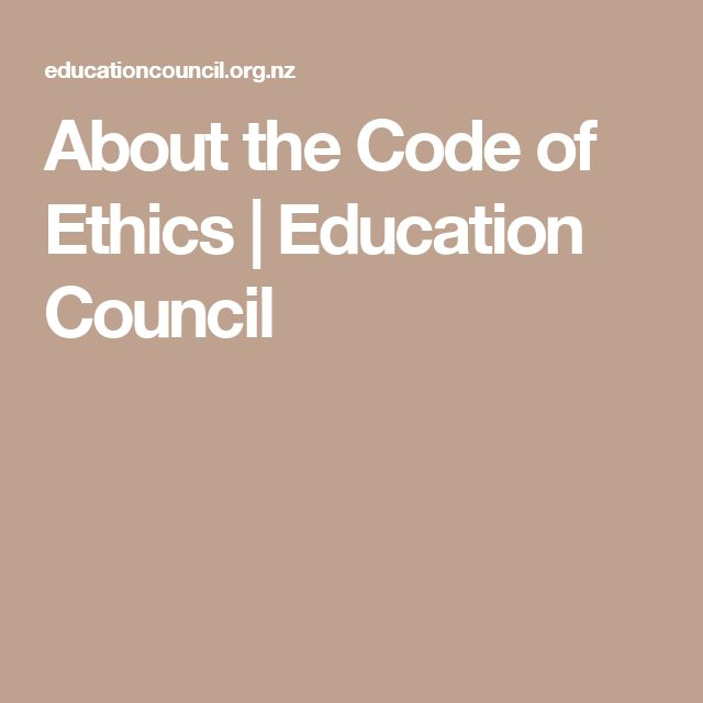 About the Code of Ethics | Education Council
