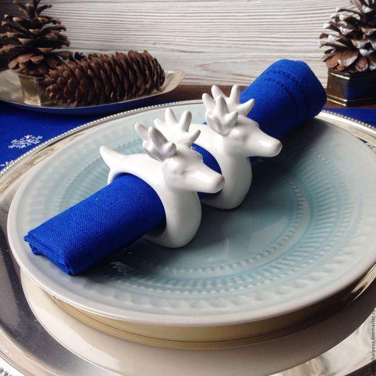 Винтажная посуда. Ярмарка Мастеров - ручная работа. Купить Кольца для салфеток - Благородный олень ( 2 шт). Handmade. Белый