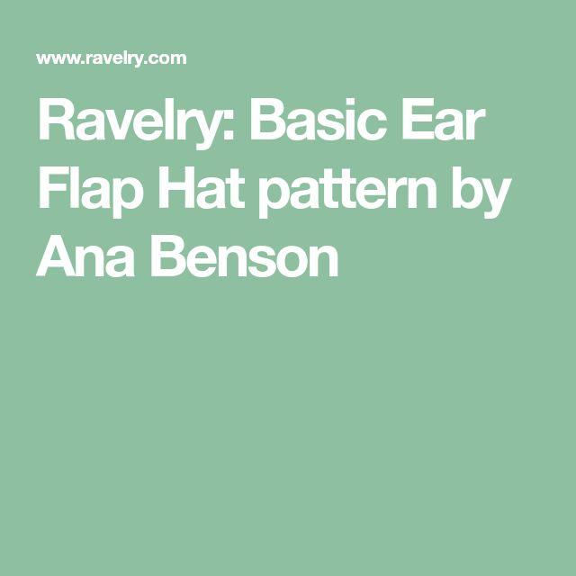 Ravelry: Basic Ear Flap Hat pattern by Ana Benson