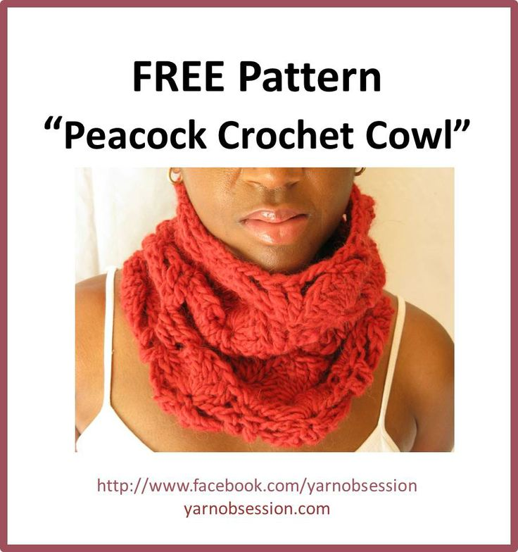 This is a free crochet pattern for a peacock crochet cowl that you'll want to make for yourself and as a gift. Easy intermediate beginner crochet pattern.