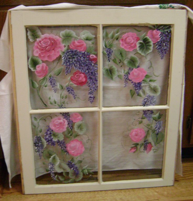 160 Best Hand Painted Windows Images On Pinterest Old