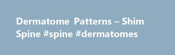 Dermatome Patterns – Shim Spine #spine #dermatomes http://zambia.remmont.com/dermatome-patterns-shim-spine-spine-dermatomes/  # Dermatome Patterns Dermatomal Patterns help physicians define nerve radiculopathy patterns. Most neurologists/spine specialists accept certain associated sensation, muscle strength, and reflex changes patterns to specific nerve roots. L5 radiculopathy is typically associated with weakness of the extensor hallucis longus muscle. That is the muscle that allows the…