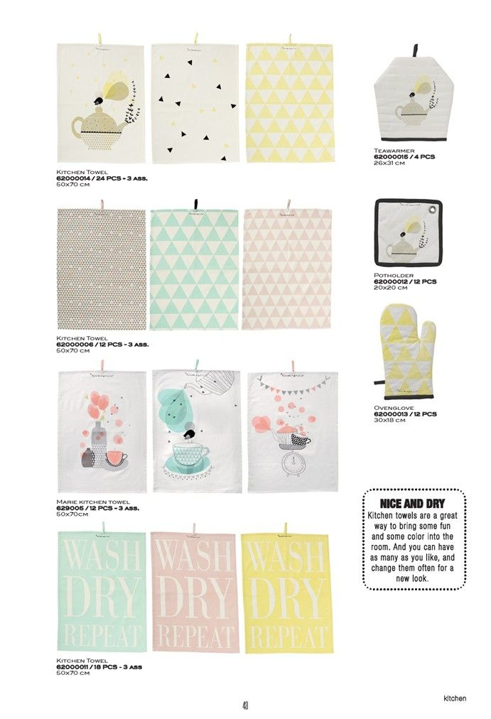 Some pretty tea towels❣ bloomingville.com