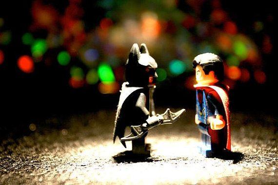 Superman vs Batman Legos  Photograph  Various Sizes by BACLORI