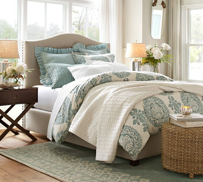 lucianna medallion duvet cover sham blue pottery With bedding similar to pottery barn