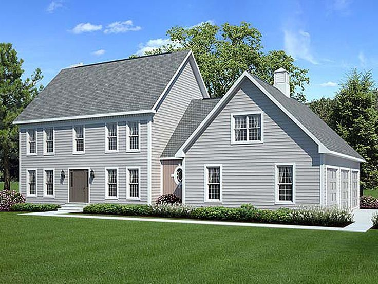 New Center Hall Colonial House Plans