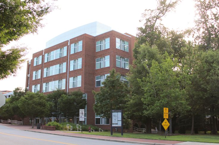The largest building on the central campus provides laboratory and classroom space for the College of Technology and Computer Science, Technology Systems and Chemistry. #ECU #MyCampusMonday