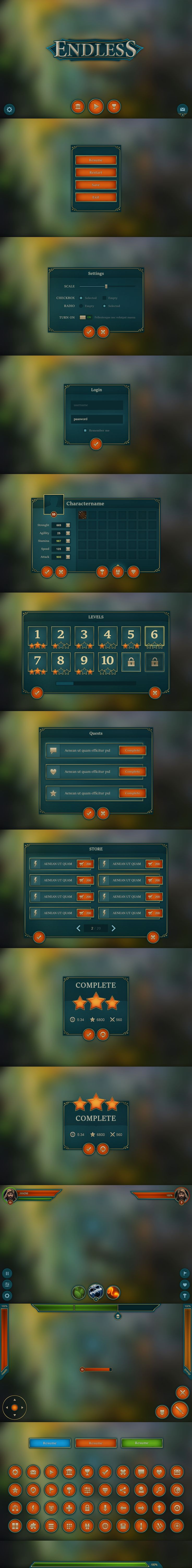 Endless Mobile UI by Evil-S on DeviantArt