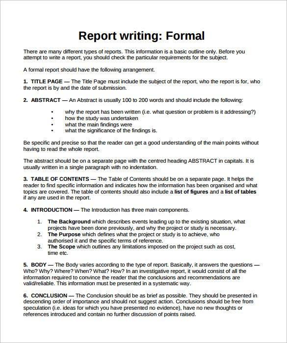 Term report writing