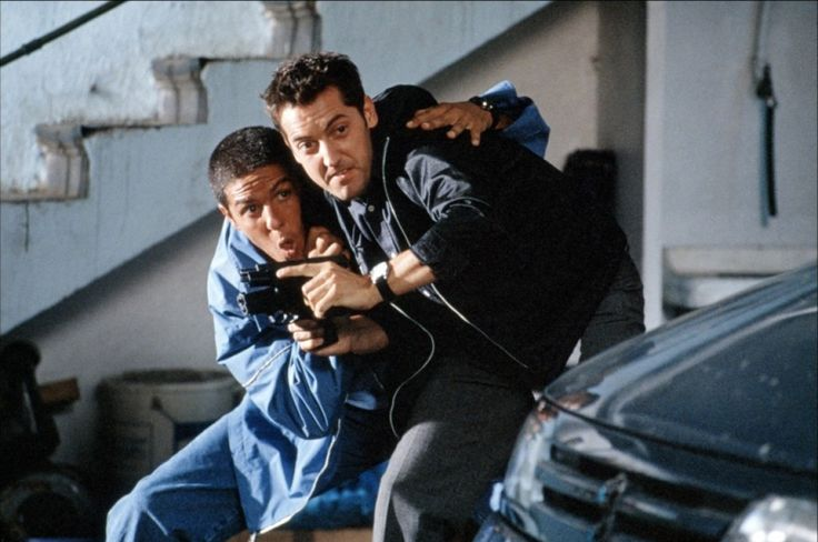 Samy Naceri and Frédéric Diefenthal in Taxi (1998) Directed by Gérard Pirès