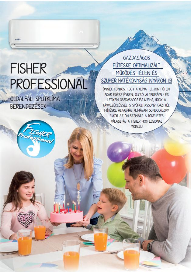 Fisher Professional klíma - gazdaságos működés, téliesített, WIFI opció, megerősített külső váz, szűrők az egészségért, négy irányú légterelés... http://klima-budapest.eu/fisherklima.html
